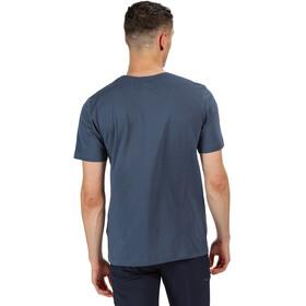 Regatta Breezed Camiseta Hombre, azul